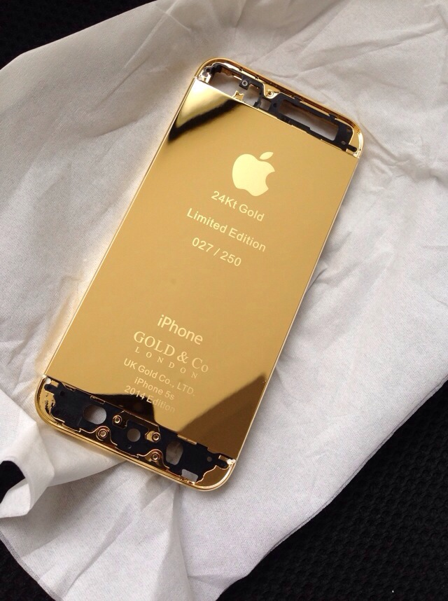 Iphone 5s 24kt uae shiny gold super high quality the best luxury